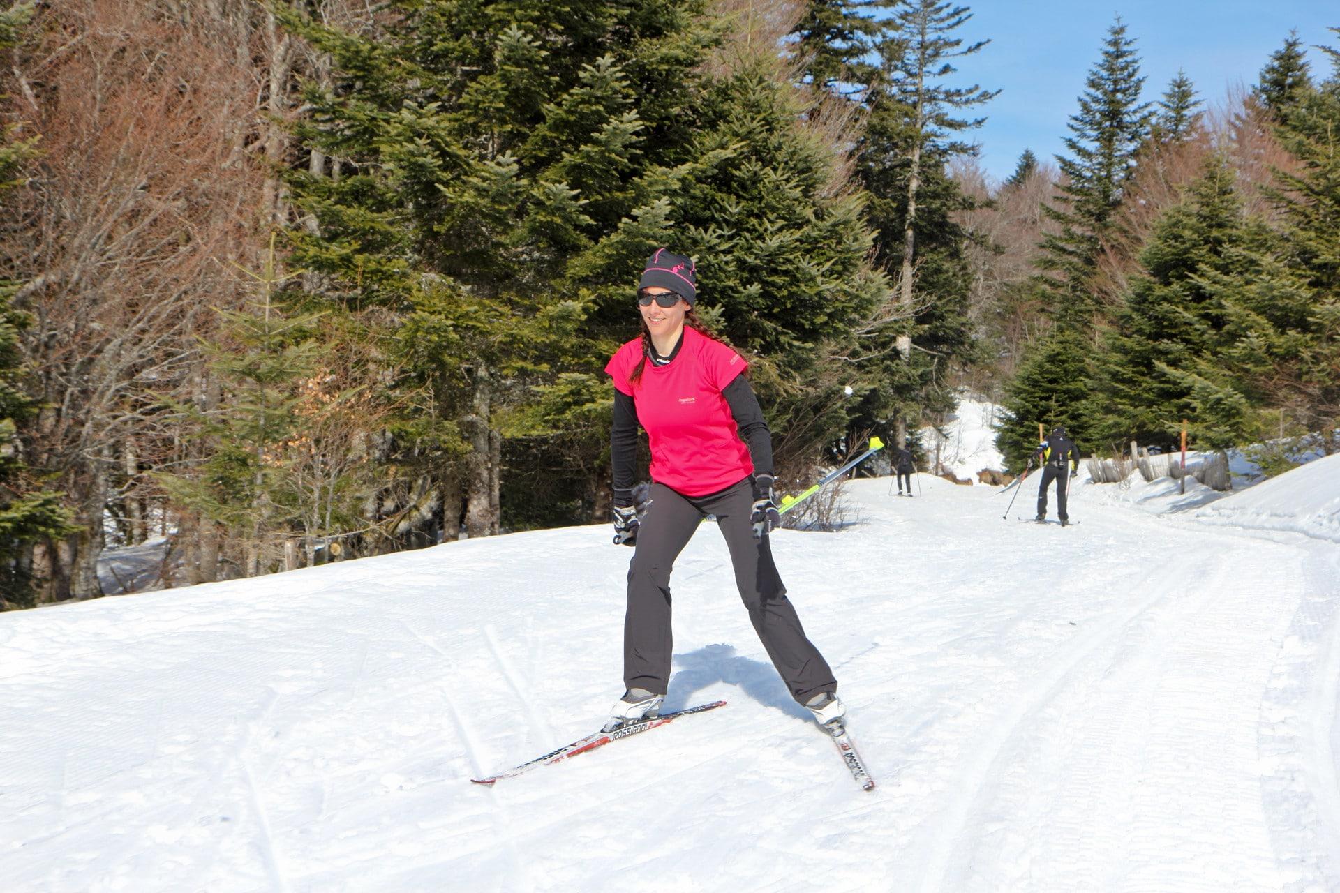 Ski de fond sur le secteur de La Stèle